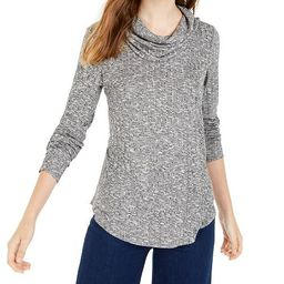 Juniors' Cowl-Neck Rib-Knit Sweater | Macys (US)