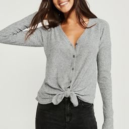 Cozy Tie-Front Button-Up   Abercrombie & Fitch US & UK