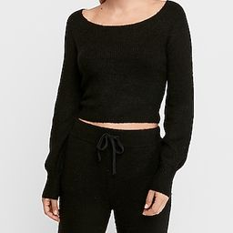 cozy cropped ribbed sweater   Express