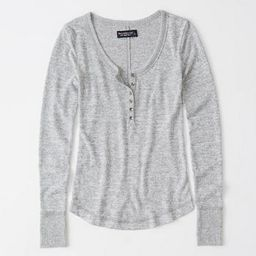 Long-Sleeve Cozy Henley | Abercrombie & Fitch US & UK