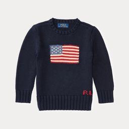Flag Cotton Crewneck Sweater | Ralph Lauren (US)