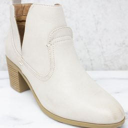 The Kayla Beige Booties   The Pink Lily Boutique