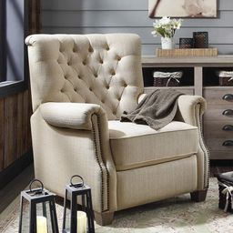 Better Homes and Garden Tufted Push Back Recliner, Multiple Color Options | Walmart (US)