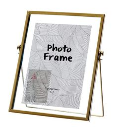 Miaowater 5x7 Picture Frames,Gold Photo Frame Decor with Plexiglas Cover High Definition Glass De...   Amazon (US)