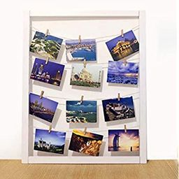 Ray & Chow White 22.4x28 inch Photo Clip Board Hanging Display- Wood Wall Picture Frame Collage B... | Amazon (US)