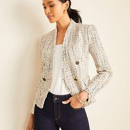 Tall Fringe Tweed Double Breasted Jacket | Ann Taylor | Ann Taylor (US)