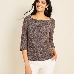 Boucle Puff Sleeve Square Neck Top | Ann Taylor | Ann Taylor (US)