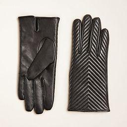 Chevron Leather Gloves | Ann Taylor | Ann Taylor (US)