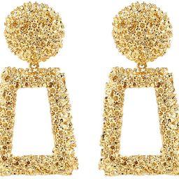 Statement Drop Earrings Large Metal Geometric Dangle Earrings Silver/Gold for Women Girls   Amazon (US)