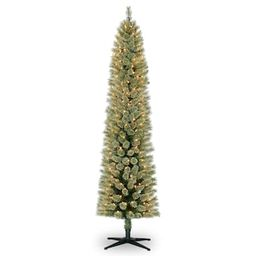 7ft. Pre-Lit Artificial Pencil Christmas Tree, Clear Lights by Ashland® | Michaels Stores