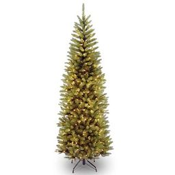 7.5 ft. Pre-lit Kingswood Fir Pencil Artificial Christmas Tree, Clear Lights | Michaels Stores