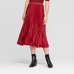 Women's Relaxed Fit High-Rise Pleated Skirt - A New Day™ | Target