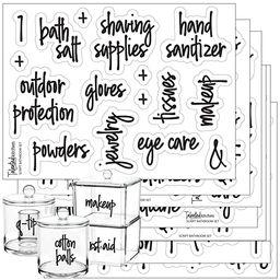 Talented Kitchen Script Bathroom Organization Labels – 105 Bathroom, Beauty & Makeup Preprinted...   Amazon (US)