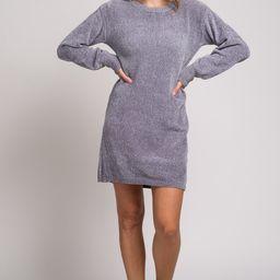 Grey Chenille Knit Maternity Sweater Dress | PinkBlush Maternity