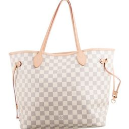 2019 Damier Azur Neverfull MM   The RealReal