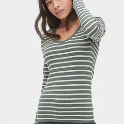 Modern Stripe Long Sleeve V-Neck T-Shirt | Gap (US)