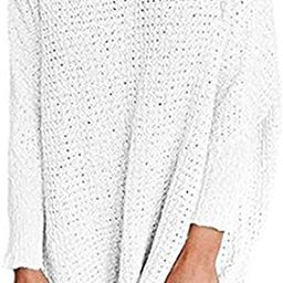 Beautife Womens Sweaters Casual Oversized V Neck Long Batwing Sleeve Knit Pullover Tops | Amazon (US)