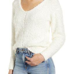 V-Neck Eyelash Chenille Sweater | Nordstrom