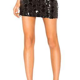 Daphne Sequin Mini Skirt in Black Sequin | Revolve Clothing (Global)