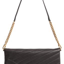 Kira Chevron Quilted Leather Clutch | Nordstrom