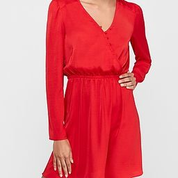 satin button front wrap fit and flare dress   Express
