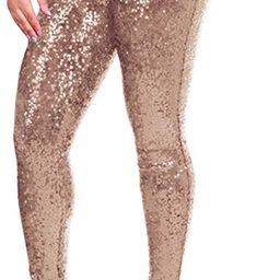 RAINED_Women Slim Leggings,Plus Size Shiny Sequin Leggings Pants Sexy Shapewear Trousers   Amazon (US)