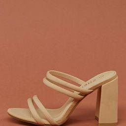 Square Toe Multi Strappy Block High Heels | SHEIN