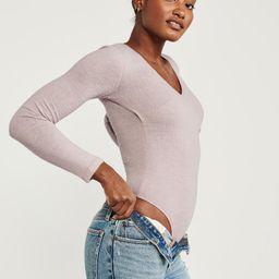 Long-Sleeve Cozy Wrap-Front Bodysuit   Abercrombie & Fitch US & UK