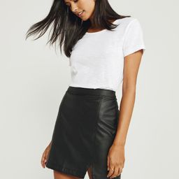 Faux Leather Mini Skirt   Abercrombie & Fitch US & UK
