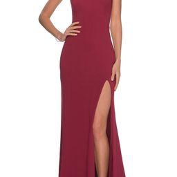 One-Shoulder Jersey Gown   Nordstrom