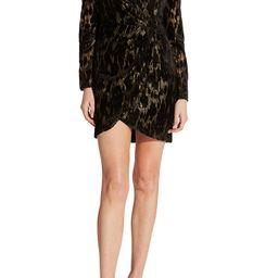 Ariela Metallic Long Sleeve Mini Dress | Nordstrom