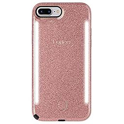 LuMee Duo Phone Case, Rose Glitter | Front & Back LED Lighting, Variable Dimmer | Shock Absorptio... | Amazon (US)