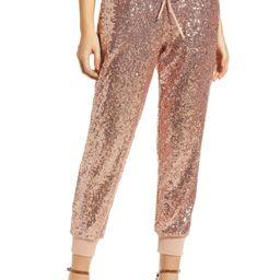 x Glam Fancy Ashley Sequin Jogger Pants | Nordstrom