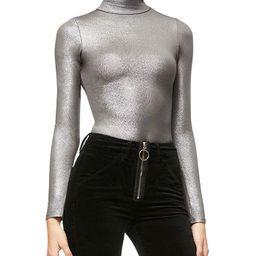 Mock Neck Bodysuit   Bloomingdale's (US)