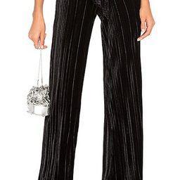 Rowna Wide Leg Pant in Black | Revolve Clothing (Global)