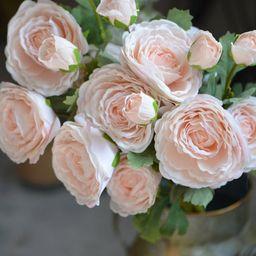 Peach Ranunculus, Real Touch Silk Ranunculus DIY Wedding Flowers Silk Bridal Bouquets Wedding Cen... | Etsy (UK)