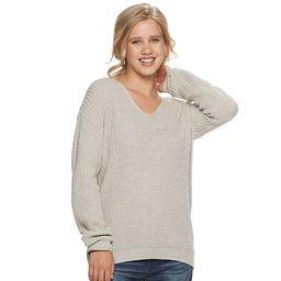 Juniors' SO® Lace Back Sweater | Kohl's