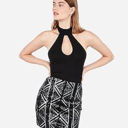 high waisted diamond sequin mini skirt | Express