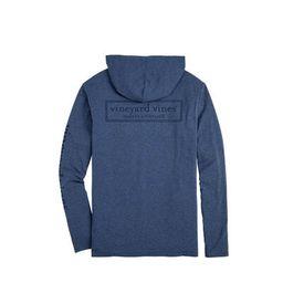 Edgartown Tonal Logo Box Long-Sleeve Hoodie Tee | Vineyard Vines