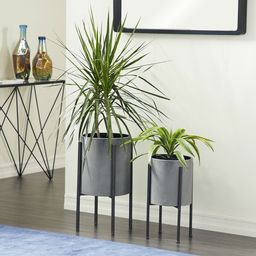 Bissonnette 2-Piece Iron Pot Planter Set | Wayfair North America
