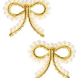 Little Bow Earrings - Pearl - Pre - Order   Lisi Lerch Inc