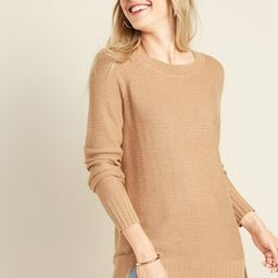 Textured-Stitch Boat-Neck Tunic Sweater for Women   Old Navy (US)