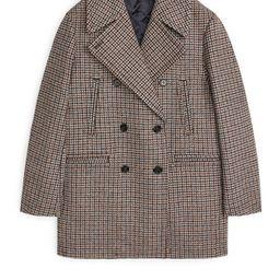 Tweed Pea Coat   ARKET