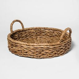 Chunky Seagrass Woven Serving Tray Beige - Threshold™ | Target