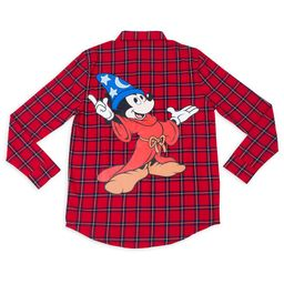 Sorcerer Mickey Mouse Flannel Shirt for Adults by Cakeworthy – Fantasia | shopDisney | shopDisney