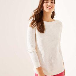 Textured Tunic Sweater | LOFT | LOFT