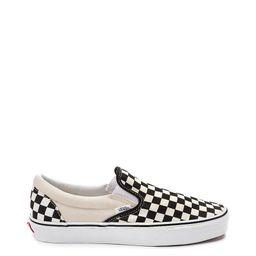 Vans Slip On Checkerboard Skate Shoe - Black / White | Journeys