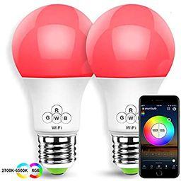 HaoDeng Smart LED WiFi Light, e27 a19 Edison Bulb 2 Pack -Timer & Sunrise & Sunset - Dimmable, Mu...   Amazon (US)