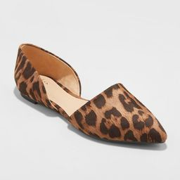 Women's Rebecca Microsuede Pointed Two Piece Ballet Flats - A New Day™   Target