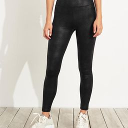 Ultra High-Rise Printed Faux-Leather Leggings   Hollister US